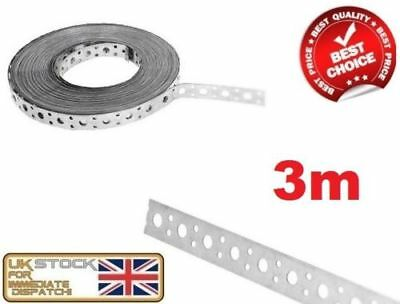 ENGINEERS FIXING BAND STEEL METAL PUNCHED PERFORATED STRIP STRAP 3m X 20 X 1mm • 11.32£