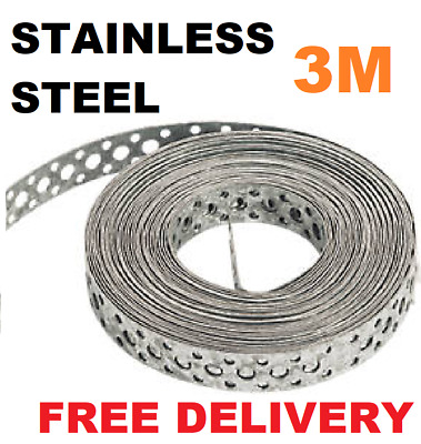 Engineers STAINLESS STEEL Metal Punched Perforated Strip Strap 3M Metre 3Mx20mm • 19.95£