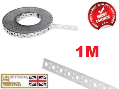 ENGINEERS FIXING BAND STEEL METAL PUNCHED PERFORATED STRIP STRAP 1m X 20 X 1mm • 5.85£