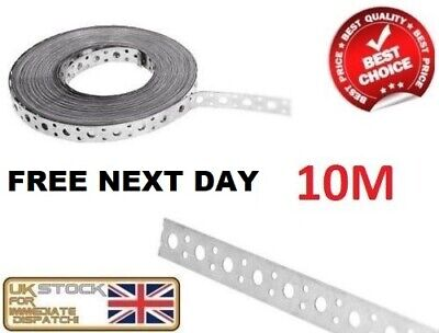 Engineers Fixing Band Steel Metal Punched Perforated Strip Strap 10m X 20 X 1mm • 18.65£