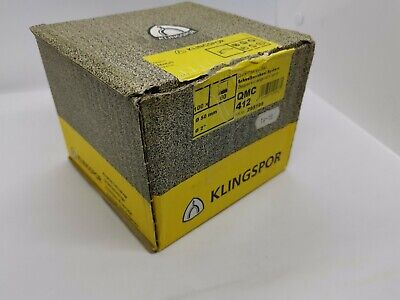 KLINGSPOR 100X QUICK CHANGE ABRASIVE DISCS For Metals QMC 412, 60 GRIT, 50MM • 25£