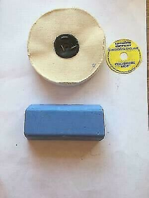 4  X 1  Quality Polishing Mop & Blue Bar  For Finishing Brass Alloy Gold Silver  • 5.95£