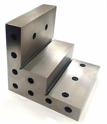 Caste Iron 100 Mm/ 4  Stepped Angle Plate For Milling Machine Lathe Engineering • 55.38£
