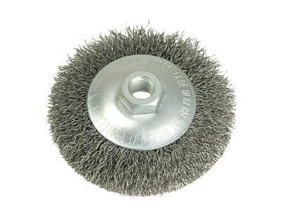 Lessmann Conical Bevel Brush 100mm M14 Bore 0.35 Steel Wire 422.177 • 17.20£