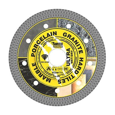 SabreCut 115mm Thin Turbo Diamond Grinder Cutting Blade Disc For Tiles 4.5inch • 9.99£
