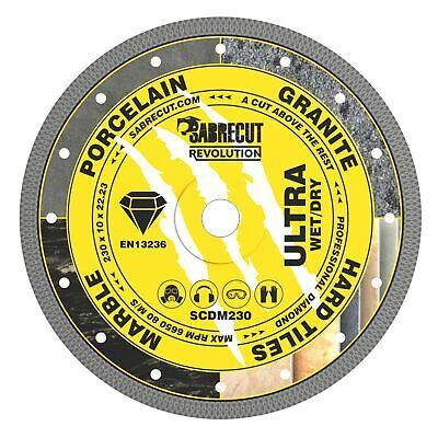 SabreCut 230mm Thin Turbo Diamond Grinder Cutting Blade Disc For Tiles 9 Inch • 24.99£