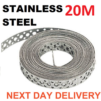Engineers STAINLESS STEEL Metal Punched Perforated Strip Strap 10M Metre F N DAY • 37.95£