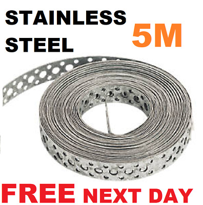 Engineers STAINLESS STEEL Metal Punched Perforated Strip Strap 5M Metre F NDAY • 29.95£