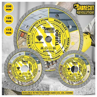 SabreCut 115-230mm Professional Turbo Performance Diamond Grinder Disc Blade • 19.99£