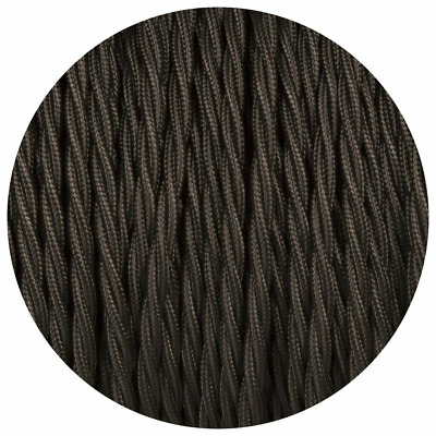 3 Core Twisted Electric Cable Covered Black Color Fabric 0.75mm • 4.89£