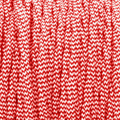 Red And White Color 3 Core Twisted Electric Cable Covered Fabric 0.75mm • 3.49£