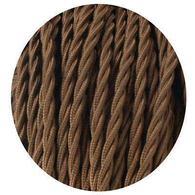 2 Core Twisted Electric Cable Light Brown  Fabric 0.75mm • 3.19£