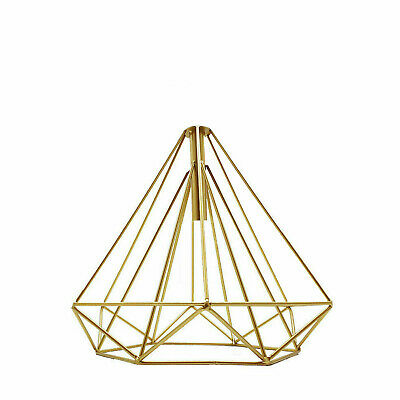 Easy Fit Pendant Light Metal Drum Gold Colour Table Lamp/Ceiling Pattern Shade • 12.49£