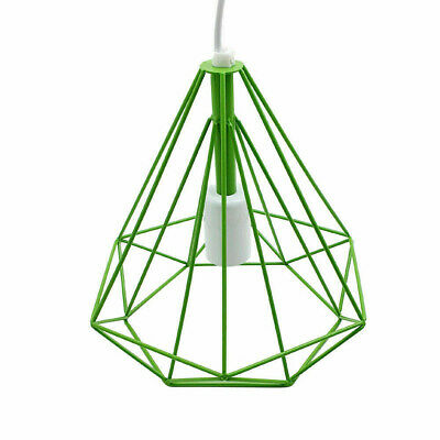 Easy Fit Pendant Light Metal Drum Green Colour Table Lamp/Ceiling Pattern Shade • 12.49£