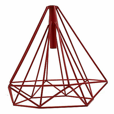 Easy Fit Pendant Light Metal Drum Red Colour Table Lamp/Ceiling Pattern Shade • 12.49£