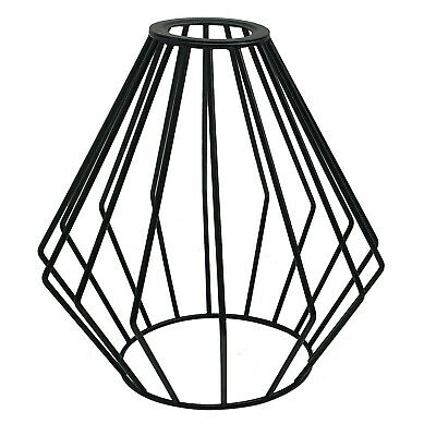 Easy Fit Pendant Light Metal Drum Black Colour Table Lamp/Ceiling Pattern Shade • 7.99£