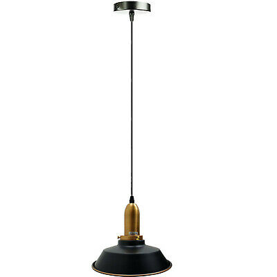 Easy Fit Pendant Light Metal Drum Black Colour Table Lamp/Ceiling Pattern Shade • 19.06£