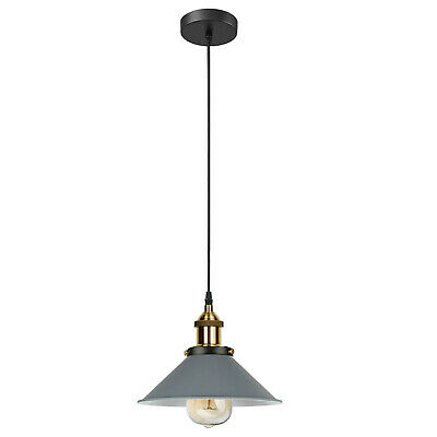 Easy Fit Pendant Light Metal Drum Black Colour Table Lamp/Ceiling Pattern Shade • 14.49£