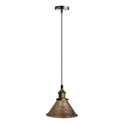 Easy Fit Pendant Light Metal Drum Black Colour Table Lamp/Ceiling Pattern Shade • 17.89£
