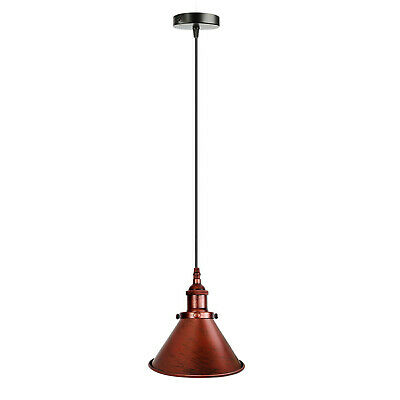 Easy Fit Pendant Light Metal Drum Black Colour Table Lamp/Ceiling Pattern Shade • 16.49£