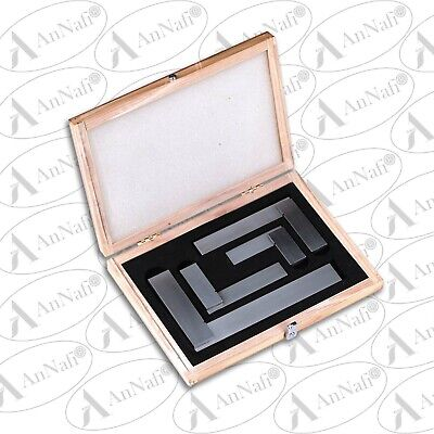 AnNafi Engineers Square Set, 4 Piece (2, 3, 4 & 6 Inch) In Wooden Case • 29.95£
