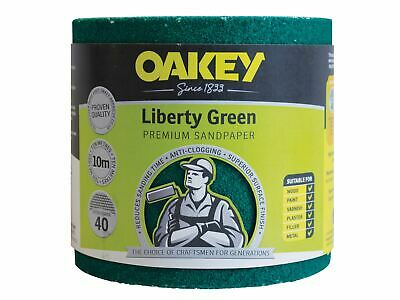 Oakey Liberty Green Sanding Roll 115mm X 10m Extra Coarse 40G • 38.65£