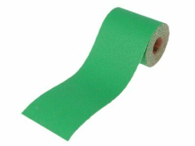 Faithfull Aluminium Oxide Sanding Paper Roll Green 115mm X 5m 60G • 6.75£