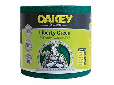 Oakey Liberty Green Sanding Roll 115mm X 5m Extra Coarse 40G • 22.15£