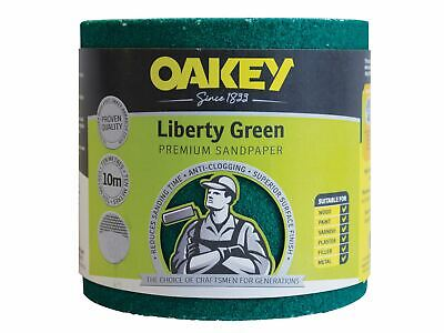 Oakey Liberty Green Sanding Roll 115mm X 10m Medium 80G • 31.29£