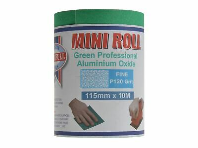 Faithfull Aluminium Oxide Sanding Paper Roll Green 115mm X 10m 120G • 9.71£