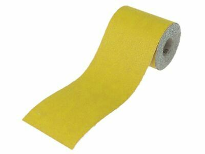 Faithfull Aluminium Oxide Sanding Paper Roll Yellow 115mm X 5m 60G • 5.49£