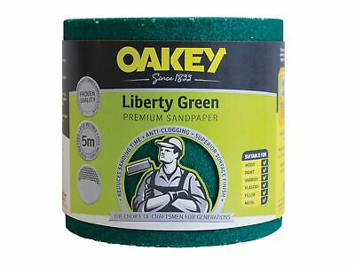 Oakey Liberty Green Sanding Roll 115mm X 5m Medium 80G • 17.93£