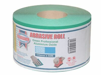 Faithfull Aluminium Oxide Sanding Paper Roll Green 115mm X 50m 40G • 66.74£