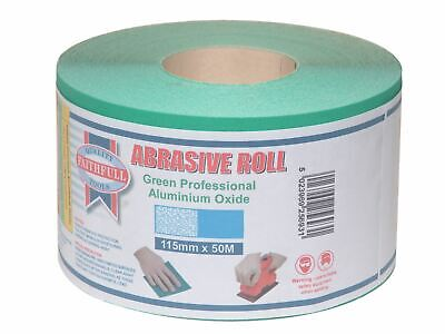 Faithfull Aluminium Oxide Sanding Paper Roll Green 115mm X 50m 80G • 47.99£