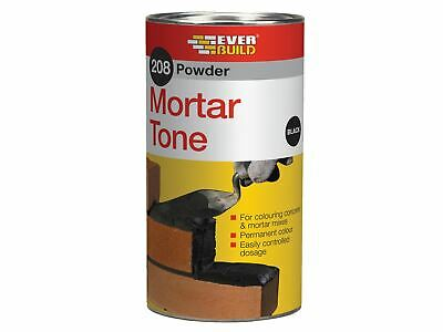 Everbuild 208 Powder Mortar Tone Black 1kg • 7.58£