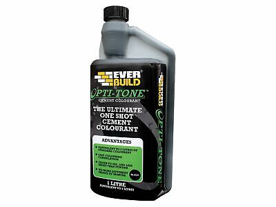 Everbuild Opti-Mix Cement Colourant Black 1 Litre • 13.66£