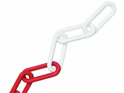 Faithfull Plastic Chain 8mm X 12.5m Red / White • 26.80£