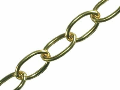 Faithfull Oval Chain 1.8mm X 10m Polished Brass • 45.60£