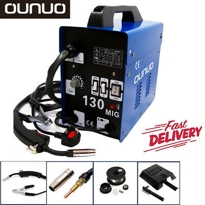 Gasless Mig 130 Welder No Gas Flux Core Auto Wire Feed Portable Welding Machine • 89.99£