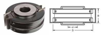 EURO SPINDLE CUTTER BLOCK D=120mm, B=40mm, 1 1/4  Bore FREE CUTTERS & LIMITERS • 79.92£