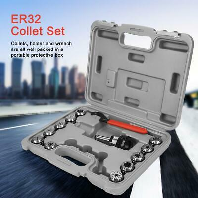 ER32 Collet Chuck Set  MT2 Shank Handle Holder Red Spanner Milling Lathe Device • 37.96£