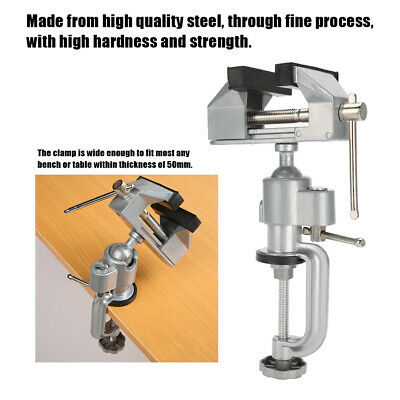 Tabletop Vise Jewelry Bench Clamp 360-Degree Ultra-Durable Steel For Jewelry • 21.68£