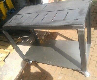 Welding Table 1000x800mm 3.2x2.75 Foot Tig Table 10mm Thick Top With Castors • 495£