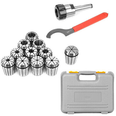 MT2 Shank Holder 11PCS ER32 Spring Collet Chuck Set Red Spanner • 37.99£