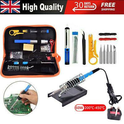 21-In-1 60W Soldering Iron Kit Electronics Welding Irons Tools Adjustable Temp • 14.99£