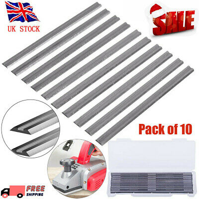 10Pcs 82mm Reversible Electric Planer Blades Boxed HSS For MAKITA BOSCH HITACHI~ • 5.26£