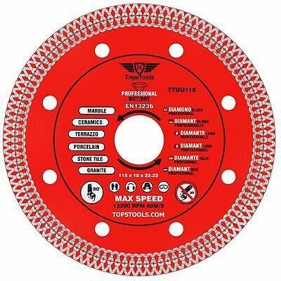 1 X Grinder Mesh Turbo Diamond Clean Thin Cutting Disc For Tiles 115mm 4.5  • 8.99£