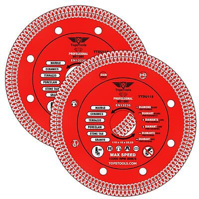 2 X Grinder Mesh Turbo Diamond Clean Thin Cutting Discs For Tiles 115mm 4.5  • 14.99£