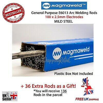 100 X 2.5mm WELDING ARC E6013 RODS ELECTRODES MILD STEEL GENERAL PURPOSE • 14.95£
