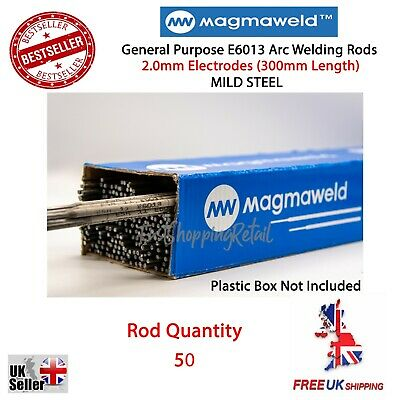 2.0mm X 50 Rods General Purpose E6013 Arc Welding Electrodes Rods - Magmaweld • 8.99£